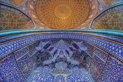 تصاویری بسیار زیبا از سقف مساجد در ایران/تصاویر