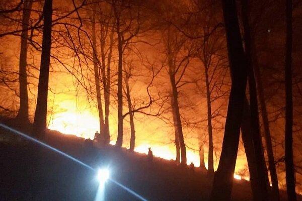 آتش سوزی در جنگلهای ارسباران