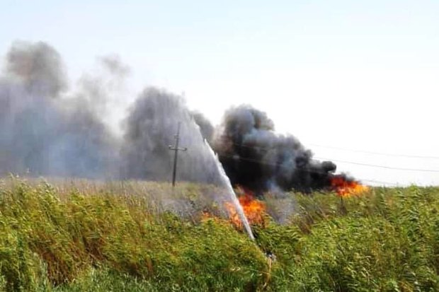 آتش سوزی در قشلاق بناب